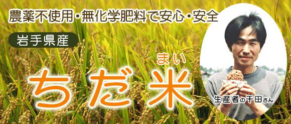 農薬不使用・無化学肥料で安心・安全 岩手県産 ちだ米